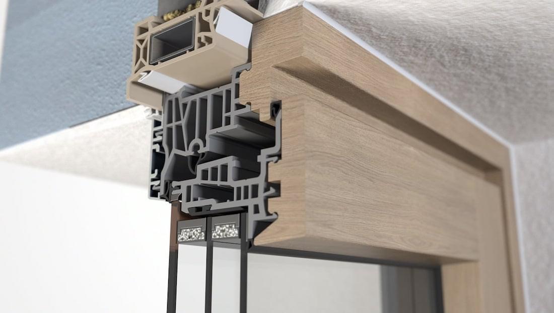 Sezione Infisso Legno-Alluminio